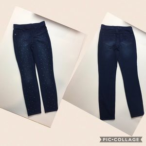 NWT Justice size 14 jeggings with embellishments